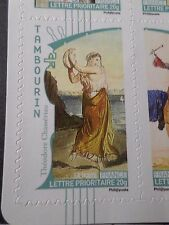 FRANCE 2010, TP AUTOADHESIF 400 MUSIQUE TAMBOURIN neuf**, MNH STICKER STAMP