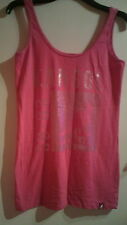 WOMENS PINK SLEEVELESS LONG TOP VEST KANGOL SIZE UK 10 NEW WITH TAG RRP £25
