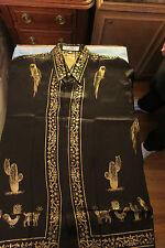 NWOT vintage Versace silk los 3 animales shirt