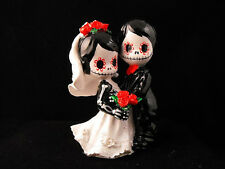 Day of the Dead Wedding Cake Topper - 3 inches