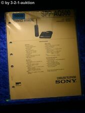 Sony Service Manual SPP AQ500 Cordless Telephone (#5000)