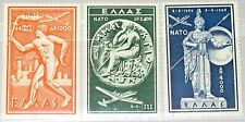GREECE GRIECHENLAND 1954 615-17 C7-73 NATO Treaty Airplanes Ancient Statues MNH