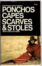 Vintage1970s Vogue Patterns Book Everything About Sewing Capes Scarves & Stoles