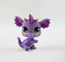 Littlest Pet Shop LPS Toys #2660 Girl Gift Green Eyes Purple Glitter Dragon