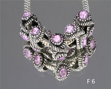 F6/5PCS/ CRYSTAL Retro silver SPACER BEADS FIT European Beads Charm Bracelet