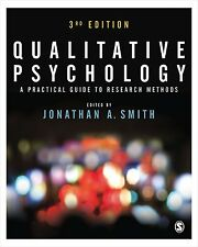 Qualitative Psychology: A Practical Guide to Research Methods New Paperback Book