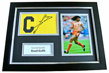 RUUD GULLIT Signed FRAMED Captains Armband Photo A4 Display HOLLAND AC MILAN COA