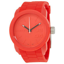 Diesel Color Domination Red Silicone Strap Unisex Watch DZ1440