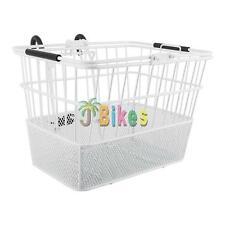 Bicycle Basket Sunlite Front Standard Mesh Lift-Off White with Bracket