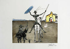 Salvador Dali DON QUIXOTE IMPOSSIBLE DREAM Signed Limited Edition Giclee