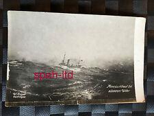 Original Foto-AK /  Minensuchboot ei schwerem Wetter