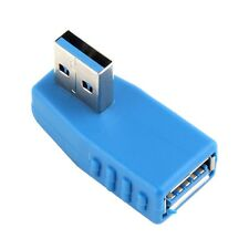 90 Degree Vertical Left Angled USB 3.0 Male to Female M/F Adapter Connector GU