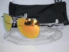 NEW OAKLEY TAILPIN AVIATOR SUNGLASSES OO4086-11 Satin Black / Fire Iridium