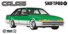 VL Calais Holden Commodore Sticker - Green with Enkei Rims - ShiftPro Brand