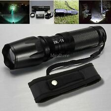 Zoomable 5000 Lumen 5 Modes CREE T6 LED flashlight Torch 18650/26650 +Holster