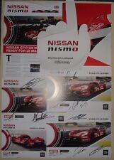 Le MANS 2015 CME NISSAN Motorsports GTR LM NISMO cimeli Set Carte di autografi