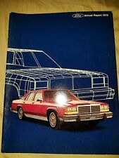 1978 FORD ANNUAL REPORT Thunderbird Mustang  F100 Cougar LTD Comet Cyclone 78