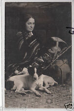 RPPC - Indian Woman w/ Dogs and Baby in Cradleboard - Paiute? - early 1900s