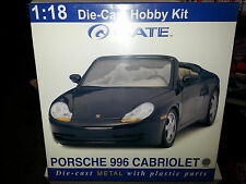 GATE 1.18 DIE-CAST HOBBY MODEL  KIT PORSCHE 996 CABRIOLET SILVER