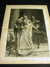 M. Vely LOVE AND MONEY ODE OUD MUSIC SERENADE JEWELS 1879 Large Folio Print