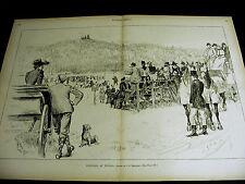 Football PRINCETON v ORANGE ATHLETIC CLUB at Tuxedo NY 1890 Large Folio Print