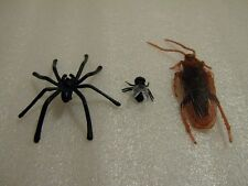 Fake Fly Spider & cockroach Joke Prank Plastic Rubber Gag Trick fake insect