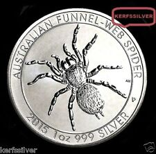2015  AUSTRALIA FUNNEL WEB SPIDER {BU}  1 OZ .999  PURE FINE SILVER BULLION COIN