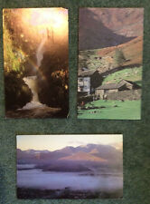 LAKE DISTRICT ; lot of 3 ART POSTCARDS incl AIRA BECK, HIGH STILE SHEPHERDS