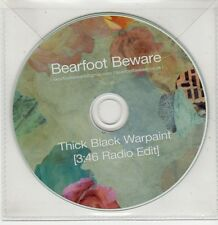 (GS645) Bearfoot Beware, Thick Black Warpaint - DJ CD