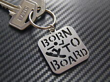 SNOWBOARD Born To Board Sport Keyring Keychain Key Bespoke Stainless Steel Gift