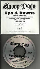 BEE GEES & SNOOP DOGG Ups & Downs RARE VERSIONS PROMO Radio DJ CD Single 2005