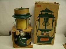 VINTAGE 1970's COLEMAN TWO MANTEL GREEN LANTERN 220F195 BOX UNUSED CAMPING LAMP