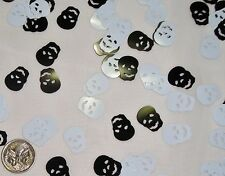 Wedding Table Scatters Foil Confettii Skulls Blk / Wht