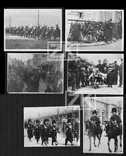 BELGIQUE GUERRE WWI Anvers 6 Photos Gendarmerie Retraite Marins réfugiés 1914