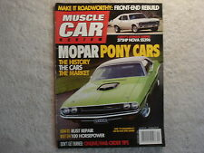 Muscle Car Review 2007 December Nova SS396, 70 Challenger R/T 440+6, Road Runner