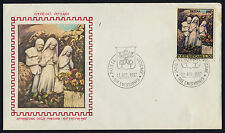 Vatican 455 on FDC - Apparition of the Virgin Mary, Fatima Sculpture on Cachet