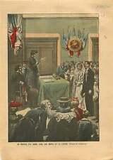 Mariage Républicain Laïque Marianne Mairie de la Lozère France 1905 ILLUSTRATION
