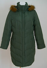 WOMENS AJC JACKET DOWN PADDED WINTER HOODED GREEN SIZE GB 18 EXCELLENT