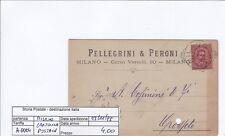 A0064 - UMBERTO 10 CENT. ISOLATO SU CARTOLINA POSTALE