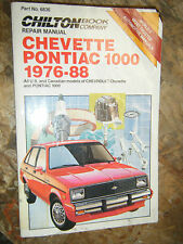 1976-1988 CHEVROLET CHEVETTE PONTIAC 1000 CHILTON REPAIR MANUAL SERVICE