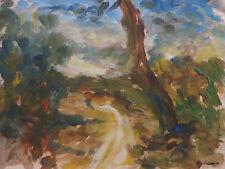 Rare uniqe Impressionist painting w COA, signed Pierre Auguste Renoir, Degas era