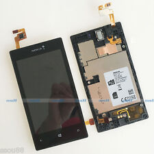 Nokia Lumia 520 LCD Display+Touch Screen Digitizer Assembly Panel+Frame Black