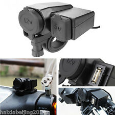 Motorcycle Waterproof Phone Cigarette Lighter USB Power Socket Charger For BMW