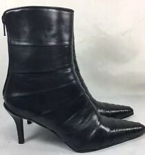 Freelance Paris Leather Ankle Boots Black Pointy Toe Size 37 France U.S Size 6.5