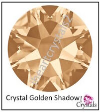 CRYSTAL GOLDEN SHADOW Swarovski 34ss 7mm 2058 Flatbacks Rhinestones 6 pieces