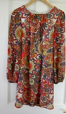 Stunning Vintage 60s Mod/Psychedelic Style Dress - Wallis Size 12