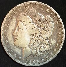 1886 O, Morgan Silver Dollar, Fine Condition, Free Shipping in USA, C3185