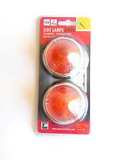 NUEVO Carpoint 0413910 Las Luces De Posición 12 V D70mm - Naranja (2 Unidades)