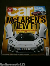 CAR MAGAZINE - McLAREN'S NEW F1 - FEB 2012