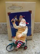 Hallmark 2002 Toymaker Santa on Bicycle Series Christmas Ornament
